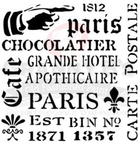 Assorted French Stencil